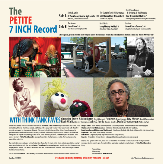 Bubbles in the Think Tank presents The Petite 7 Inch Record